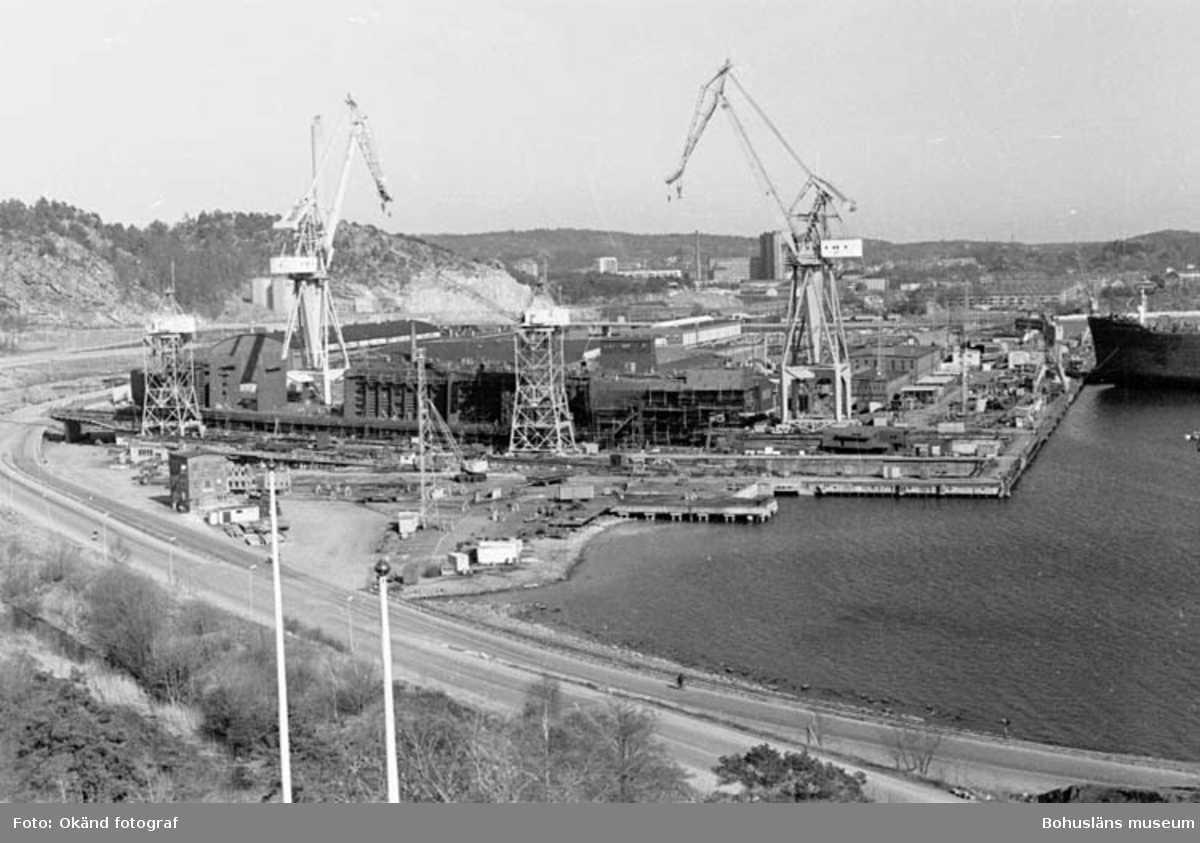 Vy över varvsområdet Kasen 1980