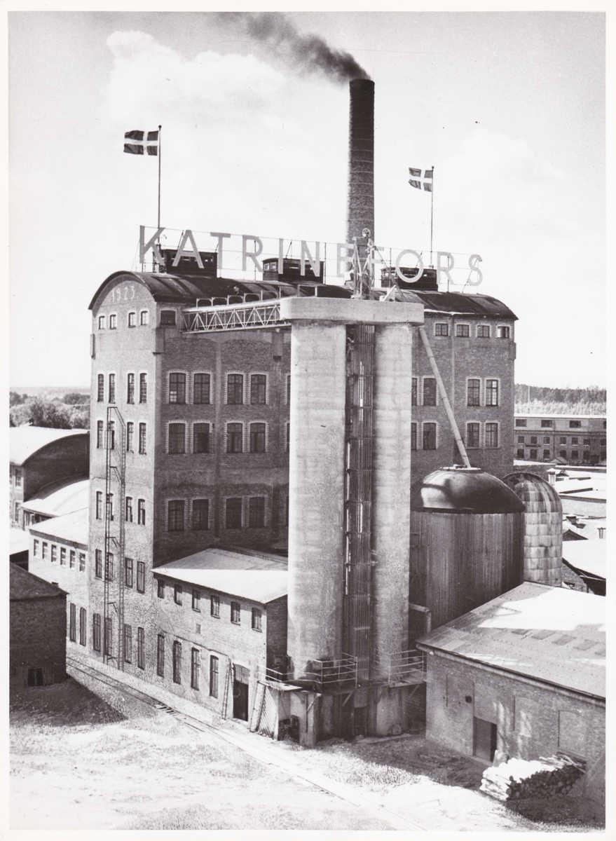 BILD 3. BILDTEXT, Pappersbruket Katrinefors i Mariestad. Sulfitkokeriet med syratornet, 1950-tal.jpg