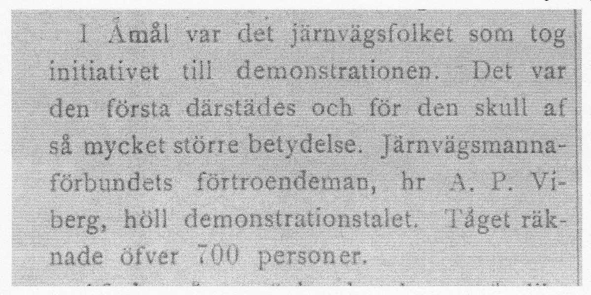1 maj demonstration i Åmål
