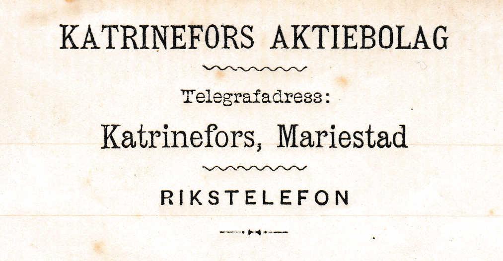 Katrinefors bruk i Mariestad