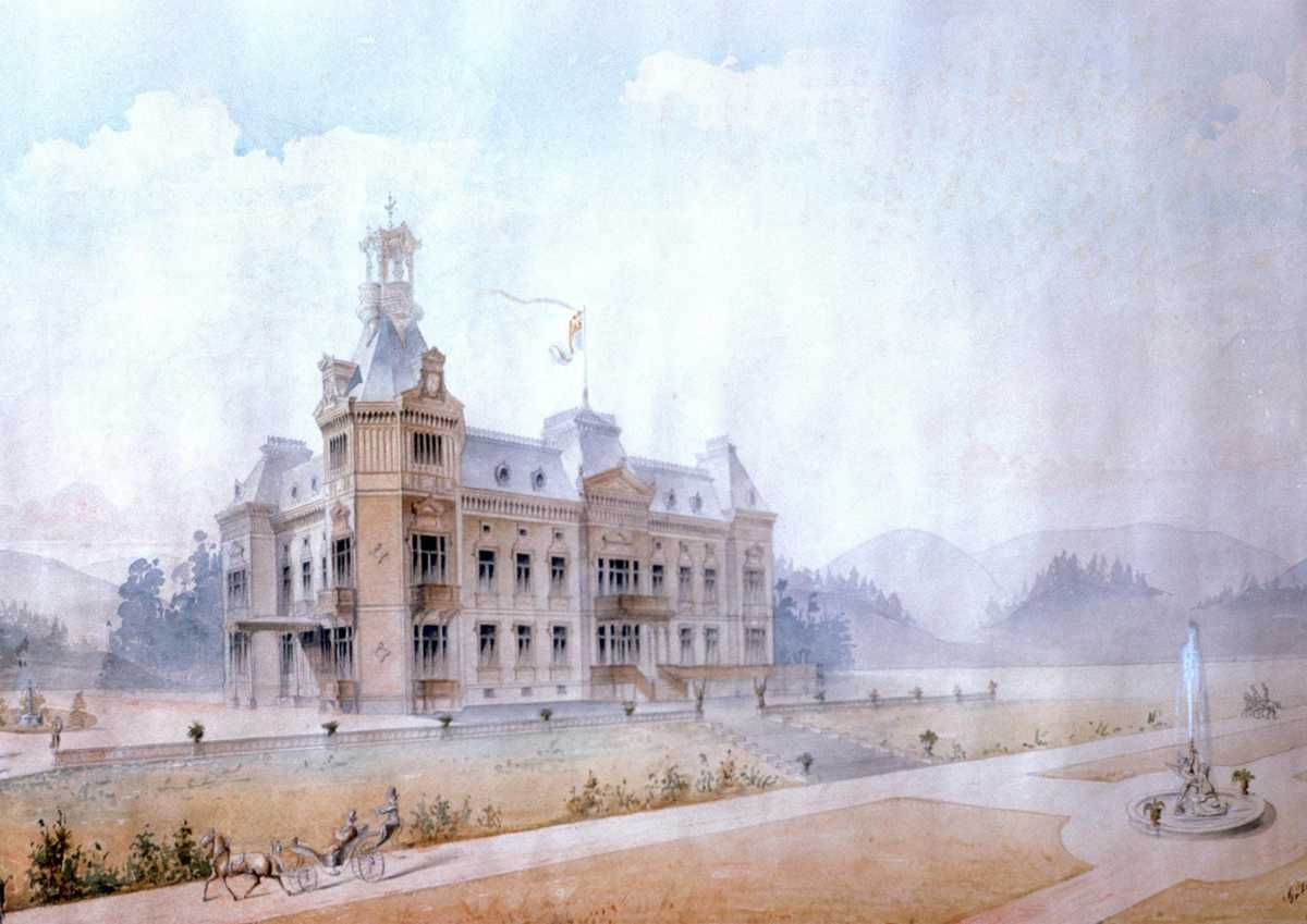 Wendelsberg Skiss av huvudbyggnaden