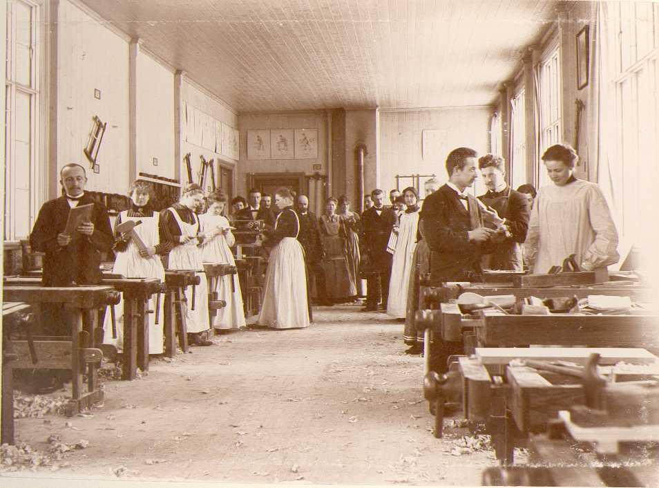 Långa salen Nääs slöjdlärarseminarium