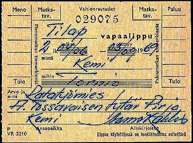 Finsk biljett.