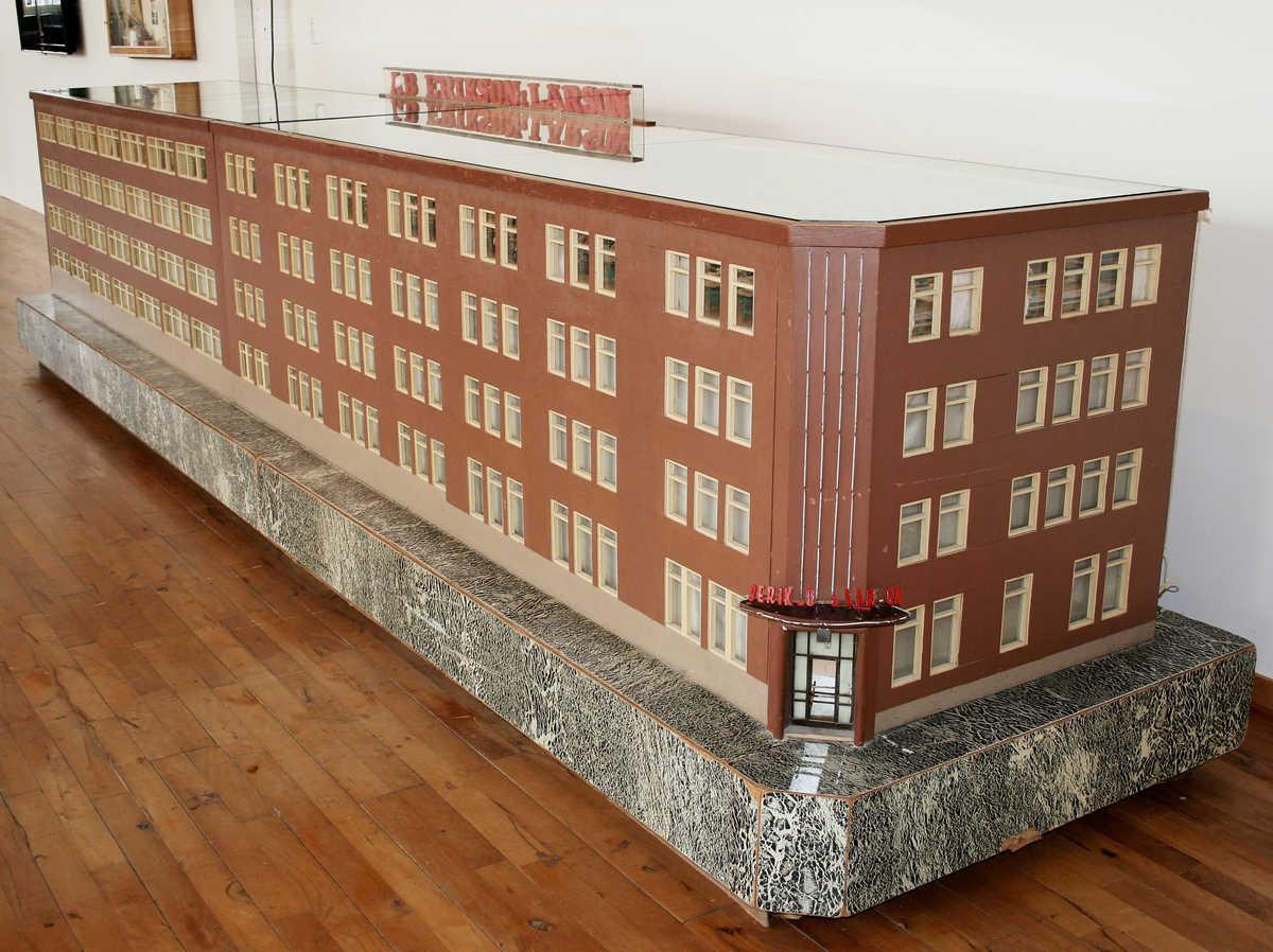 Modell av Erikson & Larsons konfektionsfabrik