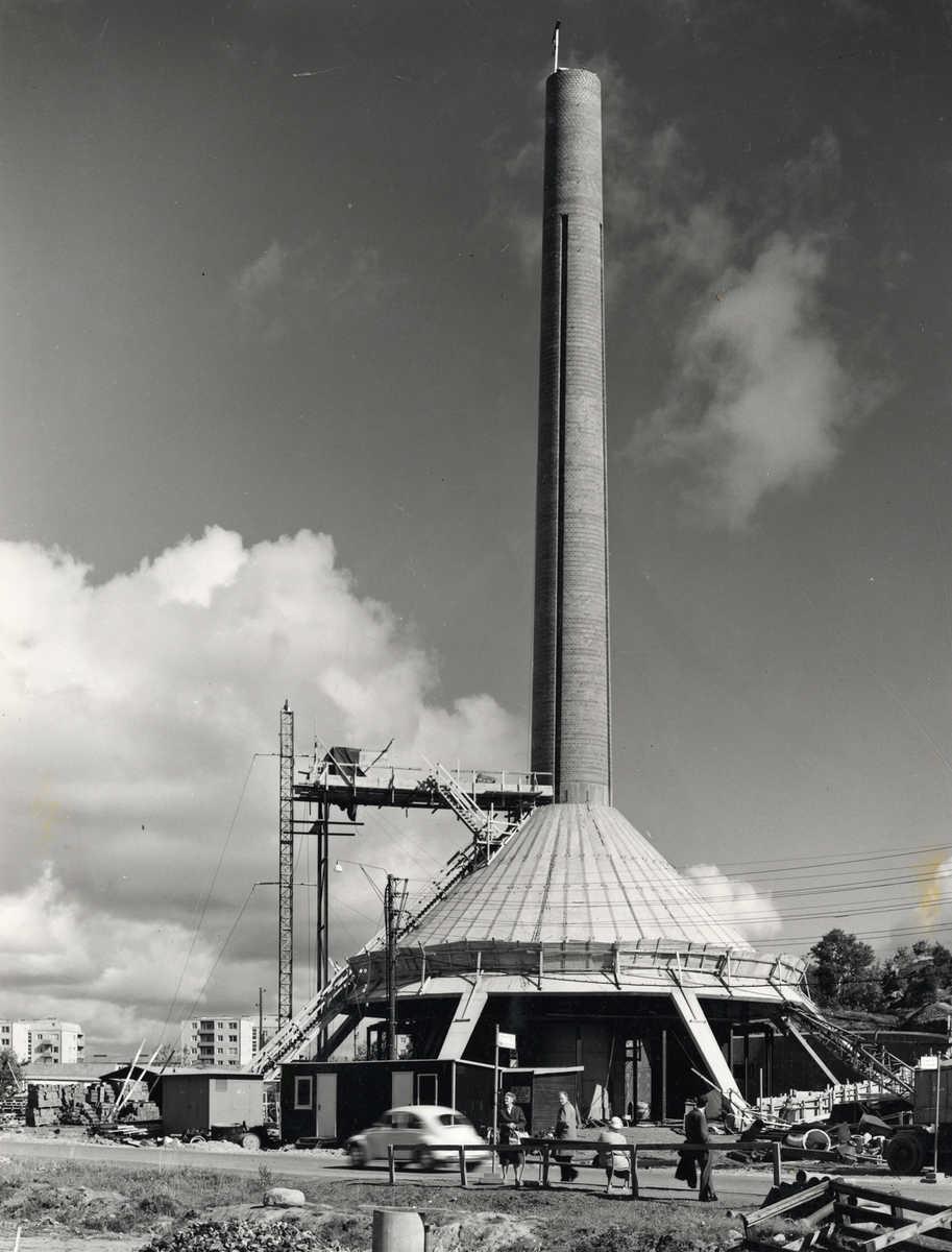 Panncentral Tratten under uppförande 1962. Foto Stig Sjöstedt