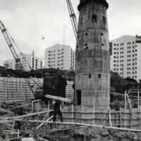 Panncentral byggs vid Dragspelsgatan 1962. foto Stig Sjöstedt