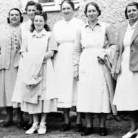 Äldre bild av kökspersonal