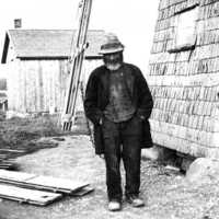 Abel Seth Johansson var den siste som malde med väderkvarn i Rackeby.
