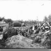 Festplatsen Karlsberg Vänersborg (nuvarande Dalaborgsparken) ca 1910.