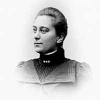 Västerplana socken. Alma Kjellberg. Var mejerska på mejeriet mitt emot Storegården. Foto W Lindhe År 1901.jpg