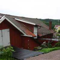 Munthers båtbyggeri, verkstaden från söder, närmast den äldsta byggnadsdelen 2006