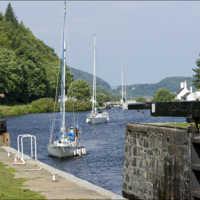 14. Crinan Canal Boats-transiting-through-Lock-10-on-the-Crinan-Canal-c-Peter-Sandground.jpg