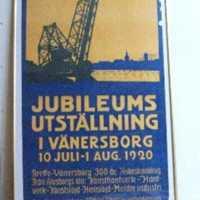 Affisch för jubiléumsutställningen i Vänersborg 1920.