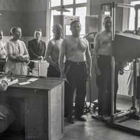 skärmbildsundersökning på 1940talet i Vörå. Foto SLS arkiv i Vasa, fotograf Erik Hägglund
