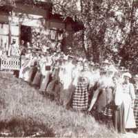 Kvinnor vid sekretariatet Nääs