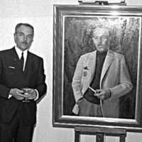 Fritijof Löfstedt chef för djursjukhuset  anställningsår 1946