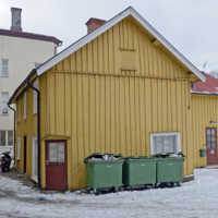 Ett av husen som är kvar från Grönlunds tid på Marumsgatan 16