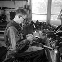 Skomakare Ivar Spjut foto: 1944