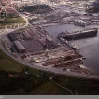 Översikt gamla varvet Kasen juni 1971