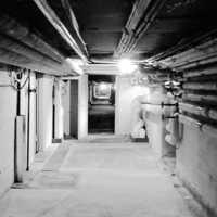 Under Stora Ekeberg fans kulvertar som sammanband närliggande hus