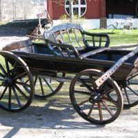En av hundratalet vagnar hos Vagnsmuseet i Fristad